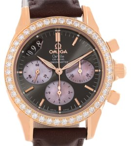 Omega Omega DeVille Co-Axial 18K Rose Gold Diamond Ladies Watch 4677.60.37