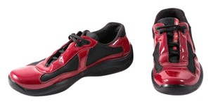 Prada Sneaker Patent/mesh Mens Red/Black Athletic