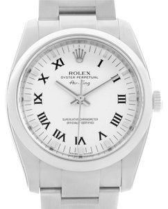 Rolex Rolex Oyster Perpetual Air King White Dial Watch 114200 Unworn