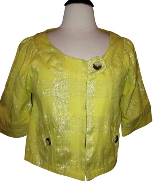 Dimri Blazer Size S Neon Bright Yellow Jacket