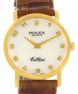 Rolex Rolex Cellini Classic Yellow Gold Mother of Pearl Dial Watch 5115