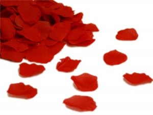 1000x Hot Red Silk Rose Petal More Color Available Centerpieces Table Tap Party Wedding Cake