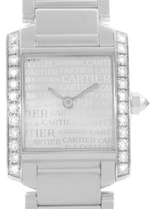 Cartier Cartier Tank Francaise Small 18k White Gold Diamond Watch WE1002S3