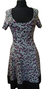 Kate Spade short dress Grey,black,pink Leopard Print Knit on Tradesy