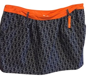 Dior Mini Skirt Blue, denim, orange