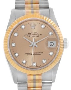 Rolex Rolex datejust President Tridor 18k Gold Diamond Midsize Watch 68279