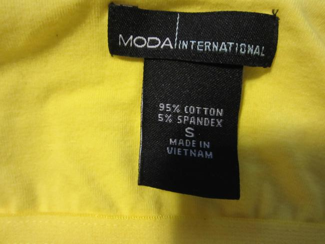Moda International Yellow Halter Top