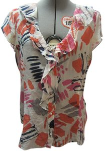 Banana Republic Top White and pink