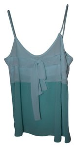 Sketchbook Ruffle Sheer Top Mint Green