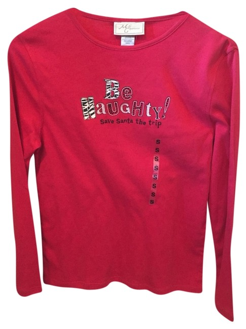 Other Longsleeve Holiday Patchwork T Shirt Red