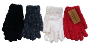 Gold Coast Gold Coast Women's 4 Pair Soft Fuzzy Gloves Red Black White Charcoal One Size XS NWT