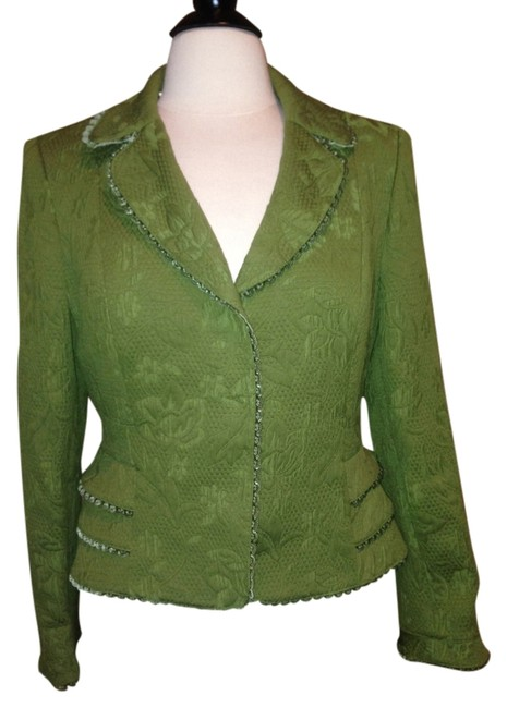 Preload https://img-static.tradesy.com/item/1364813/nipon-boutique-olive-green-blazer-size-petite-8-m-0-0-650-650.jpg