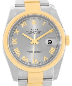 Rolex Rolex Datejust Steel 18K Yellow Gold Watch 116203 Unworn