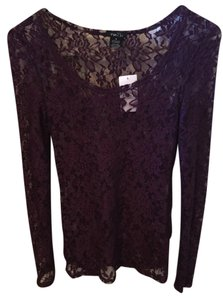 Rue 21 Lace Longsleeve Top Purple