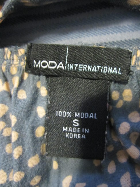 Moda International Top Grey