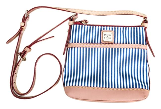 Item - Sq725 Nv Navy and White Leather Cross Body Bag