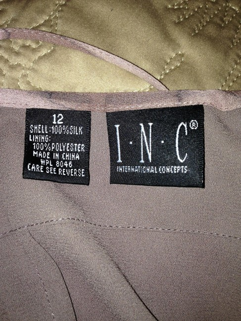 Tan/Taupe Maxi Dress by INC International Concepts Maxi Size 12