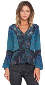 Marchesa Voyage Top Contrast floral patterns