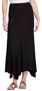 Karen Kane Hankercheif Exposed Seam Maxi Skirt BLACK