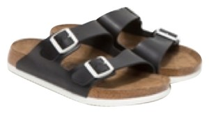 Birkenstock J Crew White Black Sandals
