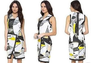 Helmut Lang Cubist Print Dress