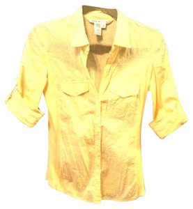 Max Studio Button Down Shirt Yellow/Gold