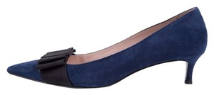 Miu Miu Slate Blue Pumps