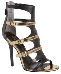 Nine West Black and gold Sandals