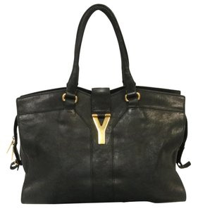 Saint Laurent Sac De Jour Monogramme Quilted Matelasse Flap Tote in Black