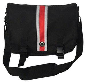 DadGear Messenger Black/Red Diaper Bag