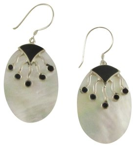 Island Silversmith Island Silversmith After 5 Mother of Pearl 925 Silver Earrings 0101B *FREE SHIPPING*