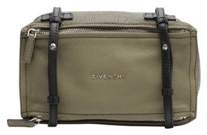 Givenchy Olive Green Leather Messenger Bag