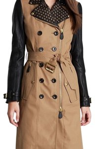 Burberry Brit Studded Leather Coachella Trench Coat