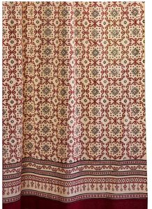 Saffron Marigold Saffron Marigold Ruby Kilim Cotton Voile Window Curtain Panel