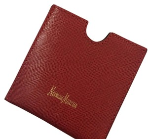 Neiman Marcus Made in Italy Saffiano Leather Neiman Marcus case pouch