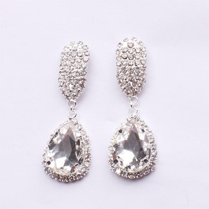 Bridal Rhinestone Dangle Tear Drop