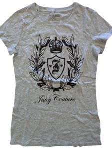 Juicy Couture Scotties Scottie Dogs Crown T Shirt Grey/Black