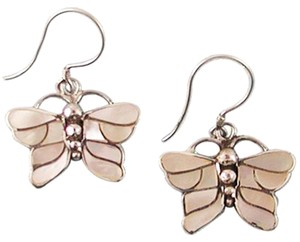 Island Silversmith Island Silversmith Genuine Mother of Pearl 925 Sterling Silver Butterfly Earrings 0101X *FREE SHIPPING*
