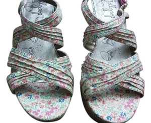 Jellypop Spring Summer Fabric Floral Multi floral Wedges