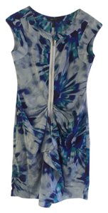 BCBGMAXAZRIA short dress Blue Watercolor on Tradesy