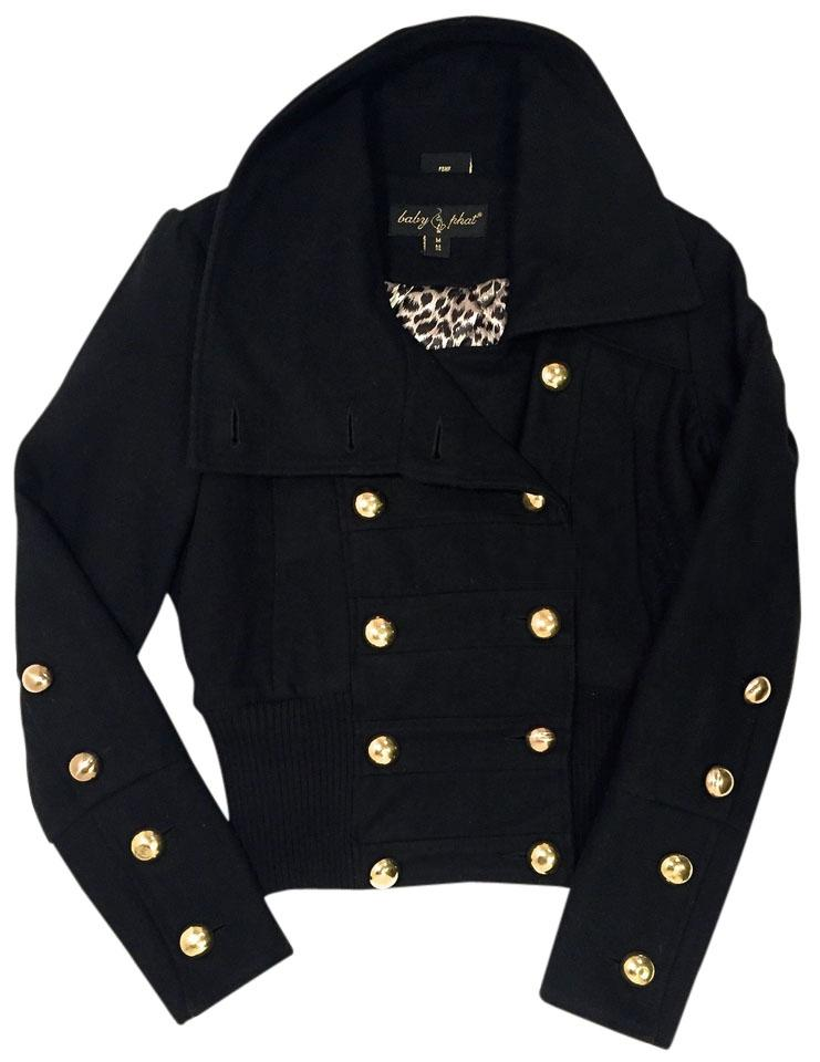 Baby Phat Women Wool Gold Button-up Pea Coat - 66% Off Retail