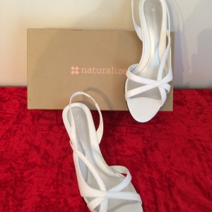 Naturalizer Prissy White Leather Sandals Wedding Shoes