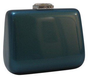 Jimmy Choo Mini Crystal Gem Teal Clutch
