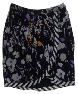 Les Copains Skirt Black / White / Purple
