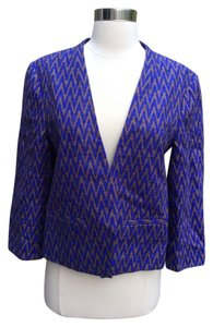 Ann Taylor LOFT Jacket Blue & Brown Blazer