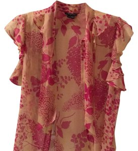 Theory Top Pink floral