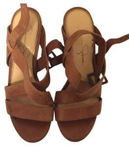 Jessica Simpson Tan/camel Wedges