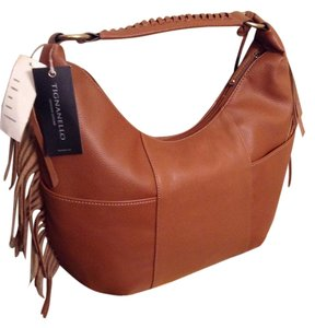 Tignanello Fringe Leather Hobo Bag