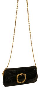Doncaster Patent Leather Monogram Gold Hardware Cross Body Bag