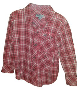 DKNY Button Down Shirt Red/while/black